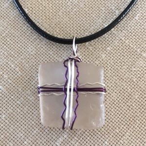 Genuine Sea Glass Handcrafted Pendant Necklace